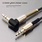 Degree Stereo Car Speaker Aux Cord Male to Male Right Angle 3.5mm Audio Cable
