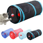 Collapsible Cat Tunnel Interactive Play Toy with Ringbell Ball for Pet Cat D3W6