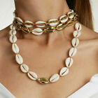 Fashion Women Shell Cowrie Beach Sea Pendant Choker Gold Chain Necklace Jewelry