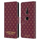 OFFICIAL WEST HAM UNITED FC HAMMER MARQUE LEATHER BOOK CASE FOR SONY PHONES 1