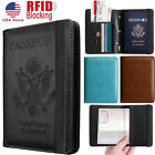 Kyпить RFID Blocking Slim Leather Travel Passport Holder Credit Card Wallet Case Cover на еВаy.соm