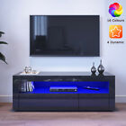 Modern TV Unit Cabinet Stand Living Room Set Entertainment Gloss Doors Free LED
