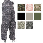 Women's Vintage Military Fatigues Camo Cargo Ladies Army Paratrooper Pants