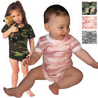 Camo Infant One Piece Baby Outfit Body Suit Romper Army Military Pajamas Unisex