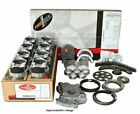 Enginetech RCC350CP Engine Rebuild Overhaul Kit Pistons Moly Rings Gaskets