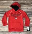 Boys Kids NHL Chicago Blackhawks Pull Over Hoodie Sweater Red Size XS, S, XL $16.99 USD on eBay