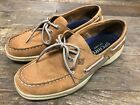 Sperry Men's Intrepid Top-Sider Tan Leather Casual Boat Shoes - Floor Model