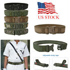 Men's Tactical Military Combat Nylon Belt Buckle Strap Adjustable Waistband US