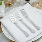 Hard Plastic SILVER FORKS Disposable Silverware Catering Cutlery Party Wedding