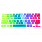 Rainbow Silicone Keyboard Case Cover Skin Protector for iMac Macbook Pro 13
