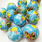 KM_ Funny Earth World Map Globe Stress Relief Squeeze Hand Therapy Bouncy Ball