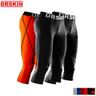 Mens 3/4 Compression Pants Under Base layer Gym Sports Leggings Running Jogger