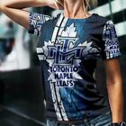 Toronto Maple Leafs Tshirt Fullprint Tee New Women's T-Shirt $26.99 USD on eBay