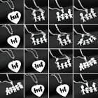Mom Dad Daughter Son Necklace Pendant Best Birthday Gifts Family Stainless Steel