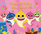 Cartoon Baby Shark Birthday Theme 7X5FT Vinyl Studio Backdrop Photo Background