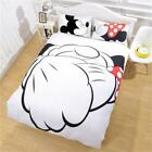 Luxury Silky Soft Duvet Cover 3 Piece Set Mickey Mouse For His Hers Couples NEW