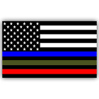 POLICE MILITARY FIREFIGHTER AMERICAN FLAG DECAL STICKER VINYL CAR TRUCK WINDOW