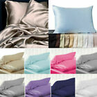 100% Pure Mulberry Silk Soft Pillowcase Luxurious Pillow Cover Home Bedding NEW image