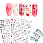 Monogram Nail Art 3D Stickers Mixed Patterns Transfer Decals Nails Tips Tools