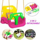 Ancheer 3 In 1 Full Bucket Swing Set Toddler Baby Seat Playground Outdoors Play