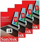 SanDisk Cruzer Fit 8GB 16GB 32GB 64GB SDCZ33 USB 2.0 Mini Flash Drive Retail Lot