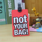 Travel Luggage Bag Tag Name Address ID Label Silicone Suitcase Baggage Tags New
