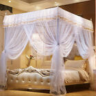 4 Corner Post Bed Curtain Canopy Mosquito Netting Or Frame/Post Twin Full Queen image