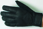 Castle Mens Black Deluxe Summer Motorcycle Leather Gloves
