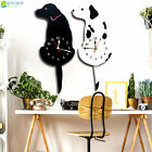 3D Swing Tail Cartoon Dog Wall Clock Acrylic Stickers Watch Decor Living Room