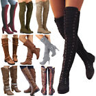 Women Boots Winter Calf Ladies Mid / Over The Knee High Stretch Calf Leg Boots