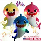 Kyпить Baby Shark Plush Singing Toy Led Light English Song Cute Doll Gift Backpack Set на еВаy.соm