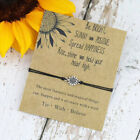 Silver Sunflower Quote Wish Bracelet Sister Love Friendship Bracelets Gifts