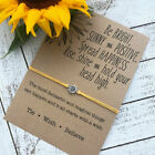 Silver Sunflower Quote Wish Bracelet Sister Love Friendship Bracelets Gifts image