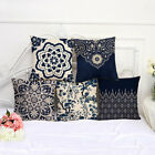 Vintage Blue Porcelain Printed Cushion Cover Throw Pillow Pillowcase Decorative