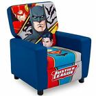 High Back Upholstered Chair Faux Leather Kids Favorite Characters Cushioned Seat