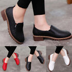 Round Toe PU Leather Low Heels Block Shoes Women Casual Ankle Boots Fashion New