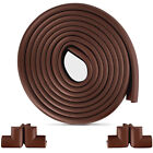 Внешний вид - 15ft Edge Corner Cushion Guard + 4pcs Baby Safety Corner Guards (Brown)