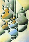 STILL LIFE WITH OIL LAMP BY JUAN GRIS ARTIST PAINTING REPRODUCTION HANDMADE OIL