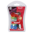 Masters Neon Golf Ball Markers Set - 12 Pack New Plastic Mixed Colours
