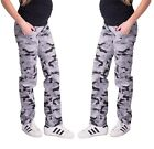 Maternity Pregnancy Cotton Grey Camouflage Trousers Cargo Pants Over Bump 8 - 18