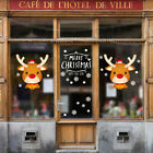 New Year Christmas Home Rooms Decor Wall Sticker Window Decals Cute Elk New