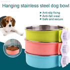 AE63 Plastic Bowl Dog Feeder Cage Bowl Puppy Pet Accessories Multipurpose