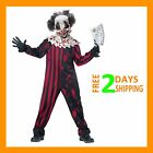 kids Boys Pennywise halloween Costume Fancy Dress Crazy clown Outfit
