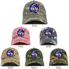 NASA Insignia Logo Patch Camouflage Soft Crown Cotton Baseball Cap - FREE SHIP