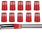 Custom .355 Red Golf Ferrules with Silver Trim Rings For Taper Tip Iron Wedge