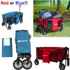Wagon Cart Folding Collapsible Garden Beach Utility Outdoor Buggy Camping Sports