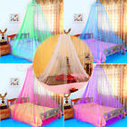 MultiColor Lace Bed Mosquito Netting Mesh Canopy Princess Round Dome Bedd Netted image