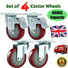 More images of 4PCS 600KG 100mm PVC Swivel Castor Wheels All With Brake Silence Trolley wq
