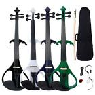 New 4/4 Electric Silent Violin + Case + Rosin + Head Set + Bow