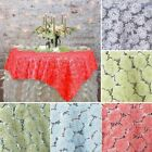 "72"" Ribbon and Sequins on Lace TABLE OVERLAYS Wedding Party Catering Decorations"